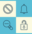 network icons set collection of bell zoom out vector image