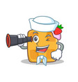 Sailor waffle character cartoon design with vector image