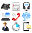 Support and information icons set vector image