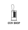 tag with bullet design template vector image