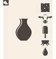 Dairy product Icon set vector image
