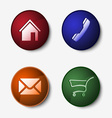 Color set of round web buttons vector image