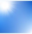 sun rays sky vector image