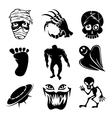 Set of ghost ghouls and alien icons vector image