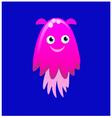 Pink jellyfish vector image