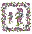 flower frame 4 380 vector image