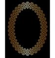 Oval gold frame vector image