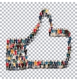 like people sign 3d vector image
