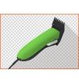 Hair clipper platform cart isometric vector image