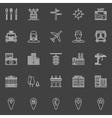City or town icons vector image