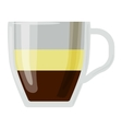 Coffee cups different cafe drinks romano vector image