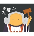 Judge with a hammer vector image