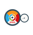 loading speed gauge vector image