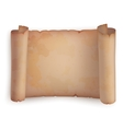 Paper roll or horizontal old scroll parchment vector image