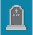 stony tombstone blue background vector image