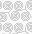 Slim gray striped spirals three turn vector image