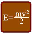 Formula on a brown school board vector image