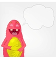 Funny Monster Laughing vector image
