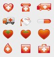 Set of Medical Icons Symbol vector image