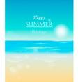 Happy summer holidays vector image