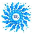 Blue paint splash circle on white background vector image vector image