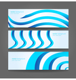 Banners or website headers with abstract wave form vector image