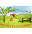 Cartoon Kite boy vector image