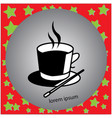cup of hot drink and magic hat vector image