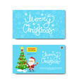 discount coupon design voucher with santa and vector image
