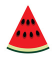 flat design icon of watermelon in ui colors vector image