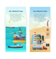 Oil Production Banners Set vector image