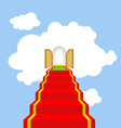 Open gates of paradise Ladder into clouds Degree vector image