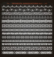 ornamental border frame line vintage patterns 3 vector image