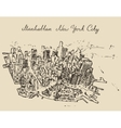 Top view Manhattan New York United States Sketch vector image