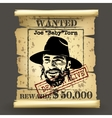 Wild west style wanted poster vector image