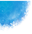 winter holiday colorful background with snowflakes vector image