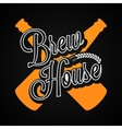 Beer Bottles Logo Brew House Label Background vector image vector image