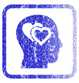 love in mind framed textured icon vector image