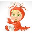 Baby zodiac - sign Cancer vector image