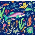 Bright concept underwater seamless pattern vector image