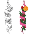 rose with banner vector image
