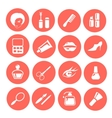 Make up icon set vector image