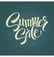 Summer sale Original handwritten calligraphy vector image