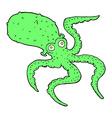 comic cartoon octopus vector image