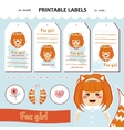 collection printable gift tags labels vector image