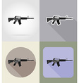 weapon flat icons 03 vector image vector image
