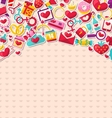 Abstract Postcard for Happy Valentine Day vector image
