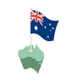 australia map and flag australian resource and vector image