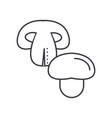champignon line icon sign on vector image