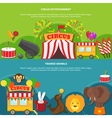 Circus entertainment horizontal banner vector image